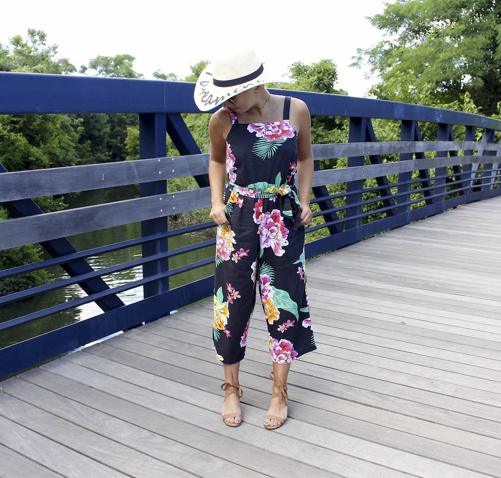 huge discount ed042 023a0 This jumpsuit featuring a beautiful and bright floral pattern can certainly  stand on its own, so for the rest of the outfit I chose to wear my delicate  ...